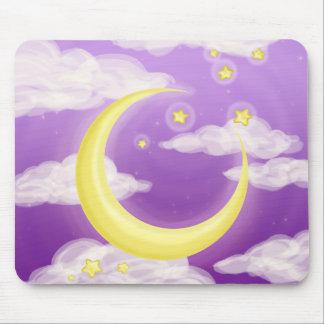 Soft Moon on Purple Mouse Pad