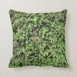 Soft moss print pillow