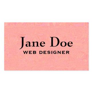 Soft Mottled Pink Custom Business Cards