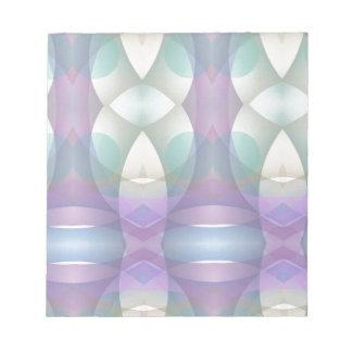 Soft Multi-Color Modern Fractal Memo Notepads