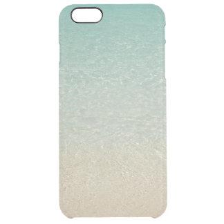 """""""SOFT-MUTED EL CARIBE COLOREA EL &SAND DE /SEA """" FUNDA CLEARLY™ DEFLECTOR PARA iPhone 6 PLUS DE UNC"""