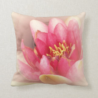 Soft Muted Pink Water Lily THROW PILLOW