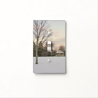 """""""SOFT MUTED WINTER LIGHT WITH GAZEBO IN SNOW LIGHT SWITCH COVER"""