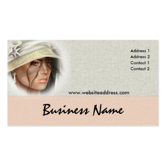 Soft Mystery Woman Business Cards