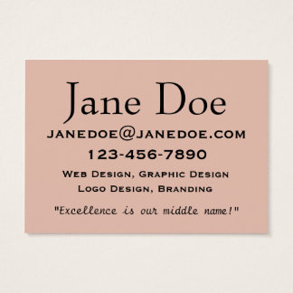 Soft Neutral Beige Business Cards