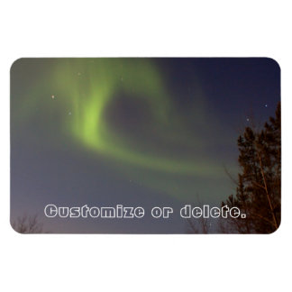 Soft Northern Lights; Customizable Vinyl Magnet