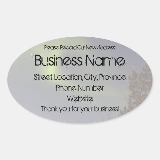 Soft Northern Lights; Promotional Oval Sticker