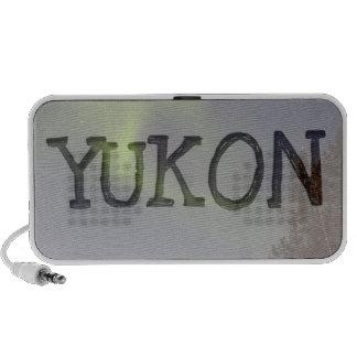 Soft Northern Lights; Yukon Territory Souvenir PC Speakers