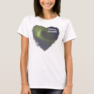 Soft Northern Lights; Yukon Territory Souvenir T-Shirt