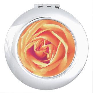 Soft orange rose print mirror for makeup