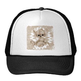 Soft Orange Spiral Smoke Teddy Bear Trucker Hat