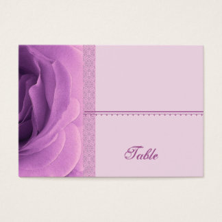 Soft Orchid Purple Rose Place Card - Wedding Party