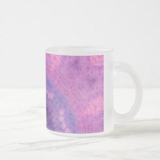 Soft Painted Journal Mandala Frosted Glass Coffee Mug
