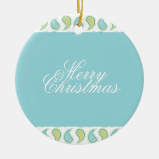 Soft Paisley Ceramic Ornament