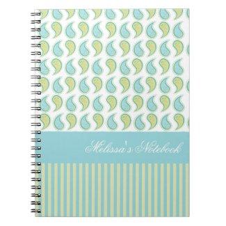 Soft Paisley Spiral Notebooks