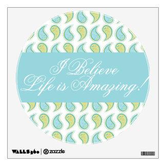 Soft Paisley Wall Sticker
