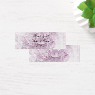 Soft Pale Pink Hydrangea Wedding Favor Tags