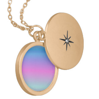 Soft Pale Rainbow Locket Necklace
