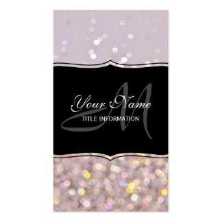 Soft Pastel Bokeh Sparkles Business Card