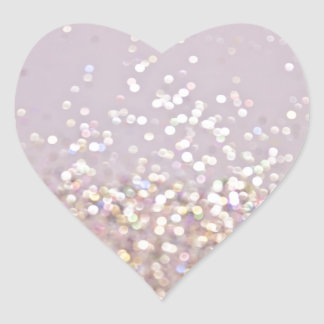 Soft Pastel Bokeh Sparkles Heart Sticker