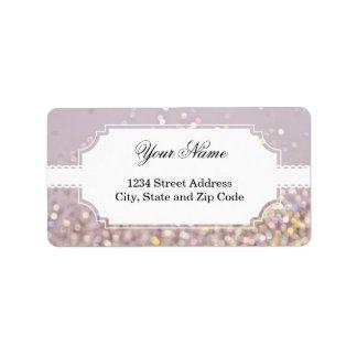 Soft Pastel Bokeh Sparkles Custom Address Label