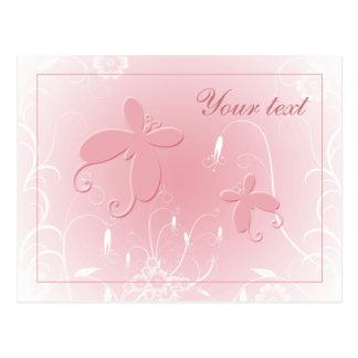 Soft pastel butterfly design postcard