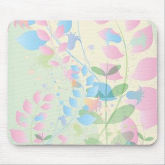 Soft Pastel Climbing Vine Mousepad