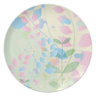 Soft Pastel Climbing Vine Party Plates