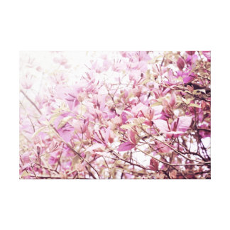 Soft Pastel Floral Branches Gallery Wrapped Canvas