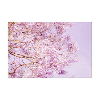 Soft Pastel Floral Branches Canvas Print