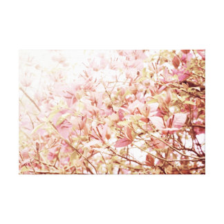 Soft Pastel Floral Branches Stretched Canvas Print