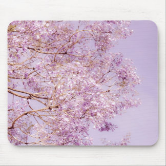 Soft Pastel Floral Branches Mouse Pad