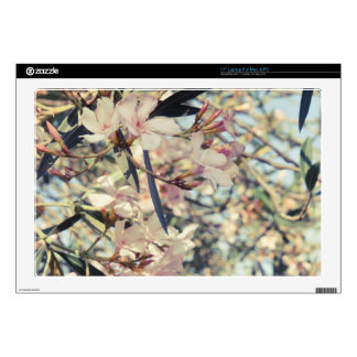 """Soft Pastel Floral Branches Decals For 17"""" Laptops"""