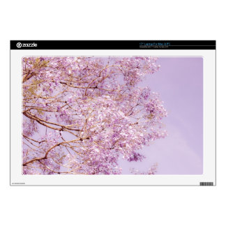 "Soft Pastel Floral Branches 17"" Laptop Skins"
