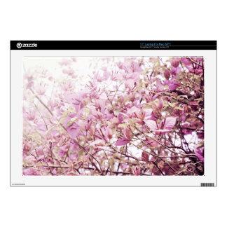 "Soft Pastel Floral Branches 17"" Laptop Decals"