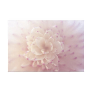 Soft Pastel Flower Canvas Print