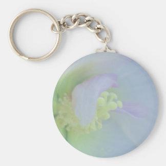 Soft Pastel Flower Photograph Keychains