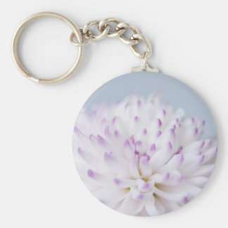 Soft Pastel Flower Photograph Key Chain