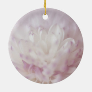 Soft Pastel Flower Photography Ceramic Ornament