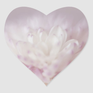 Soft Pastel Flower Photography Heart Sticker