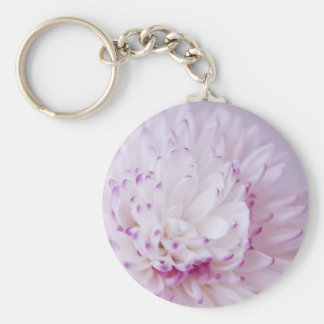 Soft Pastel Flower Photography Keychain