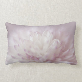 Soft Pastel Flower Photography Lumbar Pillow
