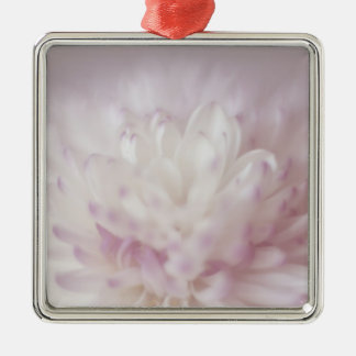 Soft Pastel Flower Photography Metal Ornament