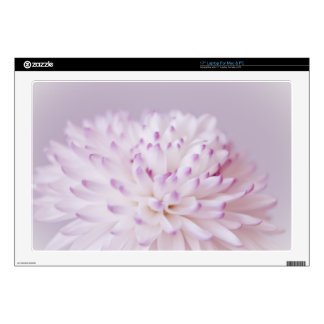 "Soft Pastel Flower Photography 17"" Laptop Decals"