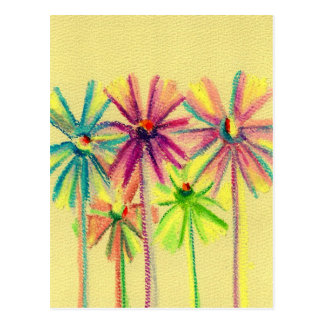 Soft Pastel Flowers For You Postcard