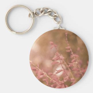 Soft Pastel Flowers Photograph Keychain