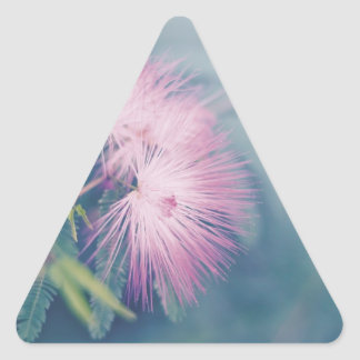 Soft Pastel Flowers Triangle Sticker
