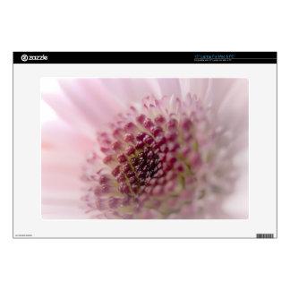 """Soft Pastel Pink Flower Close up Skins For 15"""" Laptops"""
