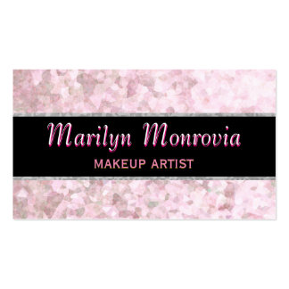 Soft Pastel Pink Glitter Business Card
