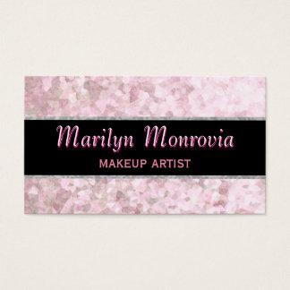 Soft Pastel Pink Glitter Business Card